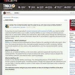 Geek Speak: How to Configure NetFlow v5 & v...