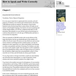 How to Speak and Write Correctly (by Joseph Devlin)