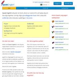 Speak English! — Lär dig engelska online