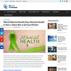 Speak Out on World Mental Health Day 2019