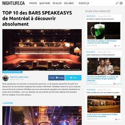 TOP 10 des BARS SPEAKEASYS de Montréal à découvrir absolument