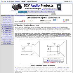 DIY Speaker / Amplifier Dummy Load