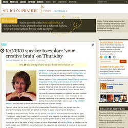 KANEKO speaker to explore 'your creative brain' on Thursday