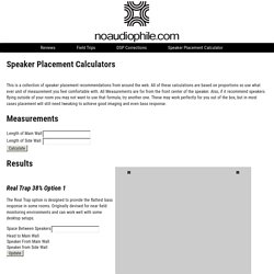Speaker Placement Calculator