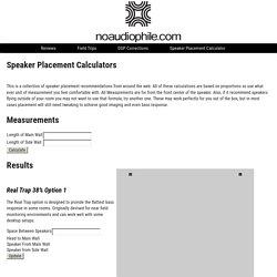 Speaker Placement Calculator