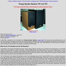 Omega Speaker Systems Other True Sound Speakers