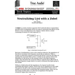 TA Speaker Topics - Neutralizing L(e) with a Zobel