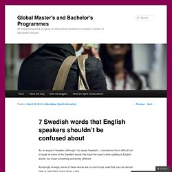 7 Swedish words that English speakers shouldn't be confused about