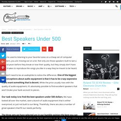 Best Speakers Under 500 - Music Skanner