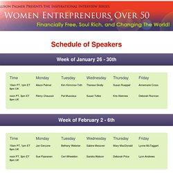 Speakers — Women Entrepreneurs Over 50