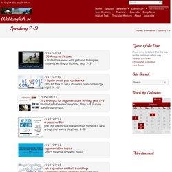 Speaking 7-9 ⋆ WebEnglish.se