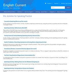 Speaking Activities for ESL/EFL