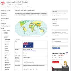 English-speaking countries: Australia