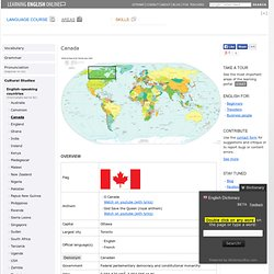 English-speaking countries: Canada - Learning English Online