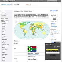 English-speaking countries: South Africa - Learning English Online