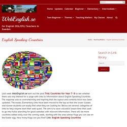 English Speaking Countries – WebEnglish.se