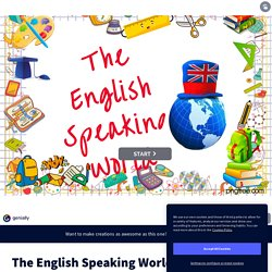 The English Speaking World par Joris Donnadieu sur Genially