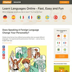 Does Speaking A Foreign Language Change Your Personality?