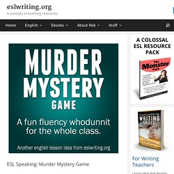 ESL Speaking Murder Mystery Game