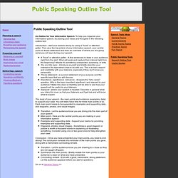 write an outline for a good informative speech - How to Write an ...