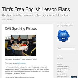 CAE Speaking Phrases