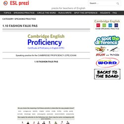 SPEAKING PRACTICE – ESL prezi