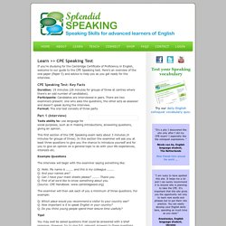 The CPE Speaking Test: Overview of the Proficiency Interview and Tips for Success