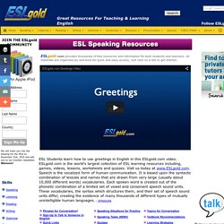 ESL English as a Second Language free materials for teaching and study. The b...