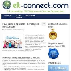 FCE Speaking Exam - Strategies for Success!