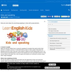 Kids and speaking