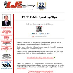 public speaking skills training pdf