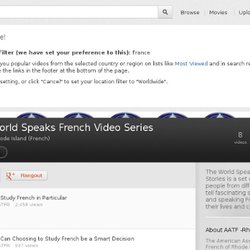 The World Speaks French Video Series