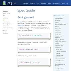 spec Guide