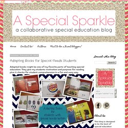 A Special Sparkle: Adapting Books for Special Needs Students
