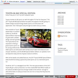 Toyota 86 860 Special Edition
