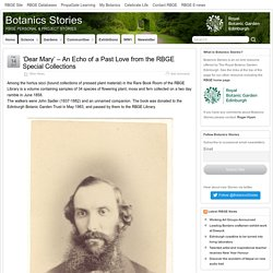 'Dear Mary' – An Echo of a Past Love from the RBGE Special Collections – Botanics Stories