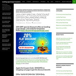 20% OFF special discount offer on landing page design templates