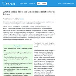 What is special about the Lyme disease relief center in Arizona