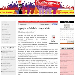 4 pages spécial documentaliste - CGT-Educ'action 93