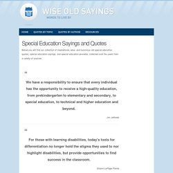 Special Education Sayings and Special Education Quotes