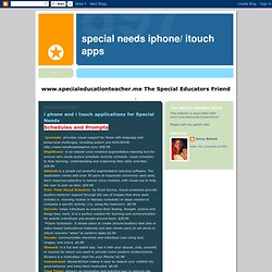 Special Needs iphone/ itouch apps