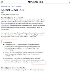 Special Needs Trust Definition