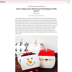 How to Make your Gift Special with Elegant Gabl... - Packaging and Printing Blog - Quora
