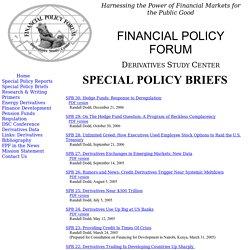 Special Policy Briefs