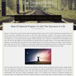 Join Special Prayers Programs Of The Trivedi Effect