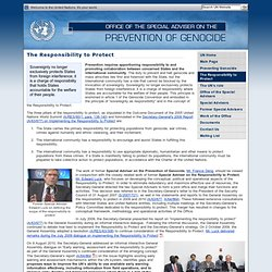 Office of The Special Adviser on The Prevention of Genocide