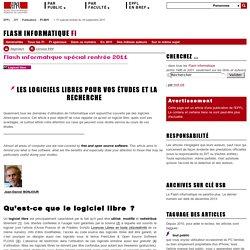 Logiciels libres - spécial rentrée 2011
