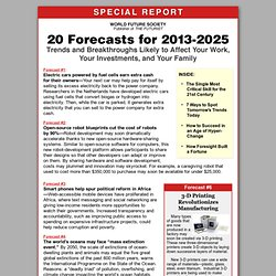 Forecasts for the Next 25 Years