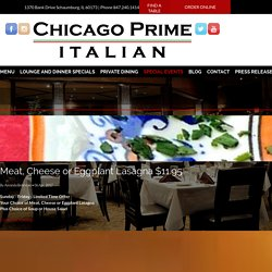 Find Corporate Event Dining in Schaumburg - Chicago Prime Italian