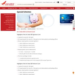 Special Schemes - Air India